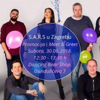 Grupa S.A.R.S. 30.6. stiže na druženje s fanovima u Dancing Bear shop Zagreb