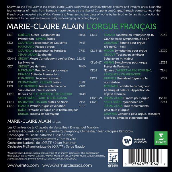 ALAIN MARIE-CLAIRE – L'ORGUE FRANCAIS…box