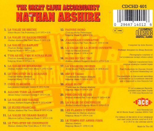ABSHIRE NATAN – GREAT CAJUN ACCORDIONIST