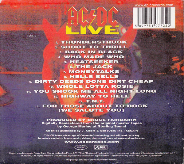 AC/DC – LIVE (2cd collector's edition)