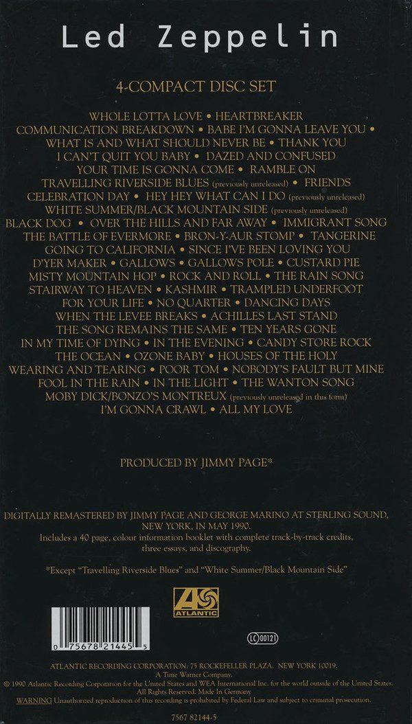 LED ZEPPELIN - BEST OF 4 CD SET NEW