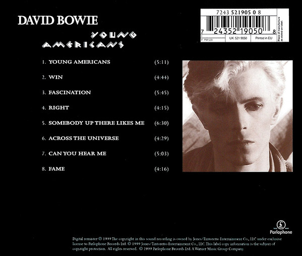 BOWIE DAVID - YOUNG AMERICANS...REMASTER