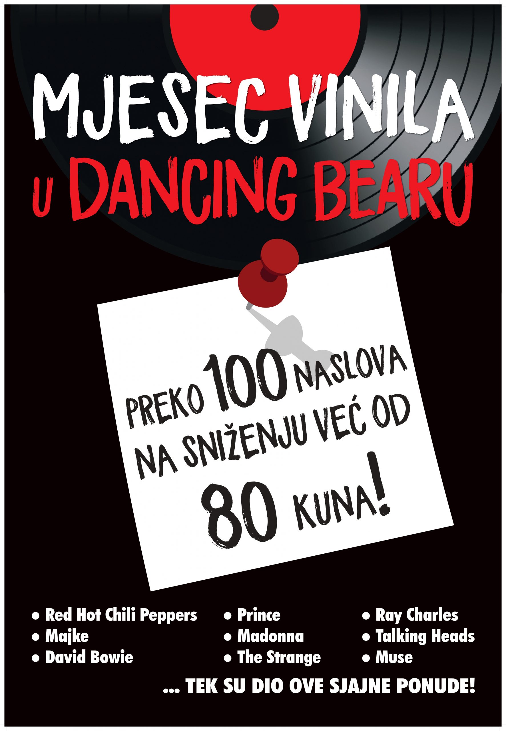 Dancing Bear shop akcija, vinili