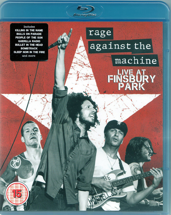 RAGE AGAINST THE MACHINE – LIVE AT FINSBURY PARK..BRD