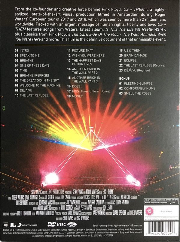 WATERS ROGER – US + THEM DVD