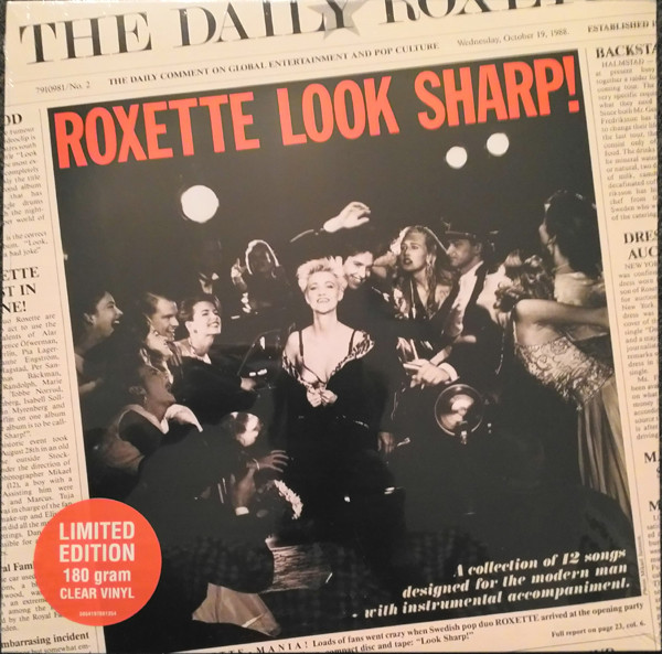 ROXETTE – LOOK SHARP ltd clear vinyl LP