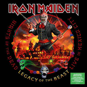 IRON MAIDEN – NIGHTS OF THE DEAD, LEGACY OF THE BEAST coloure vinyl LP3