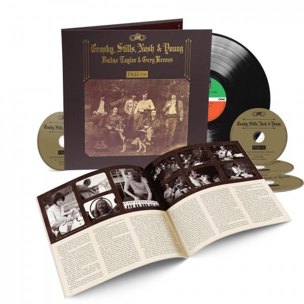 CROSBY STILLS NASH & YOUNG  – DEJA VU 50TH ANNIVER 1LP+4CD BOX