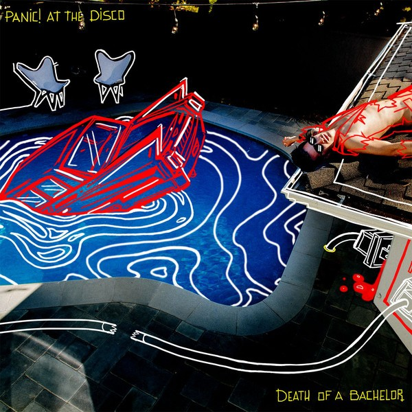 PANIC! AT THE DISCO – DEATH OF A BACHELOR silver vinyl LP