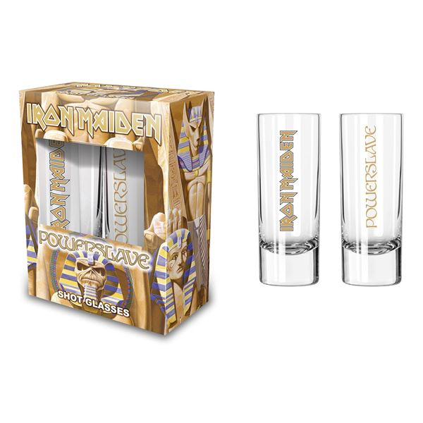 MERC – IRON MAIDEN POWERSLAVE SHOT GLASS SET 2 KOM