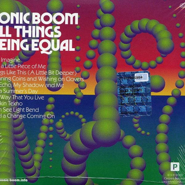 SONIC BOOM – ALL THINGS BEING EQUAL CD