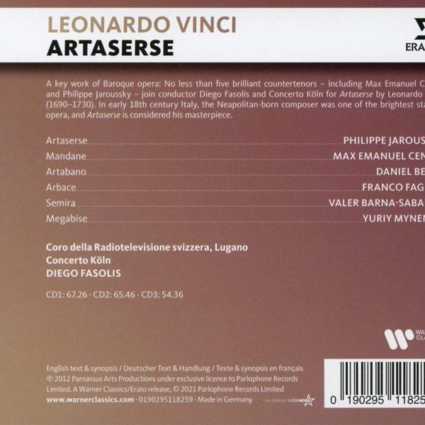 VINCI/JAROUSSKY/FASOLIS – ARTASERSE CD3