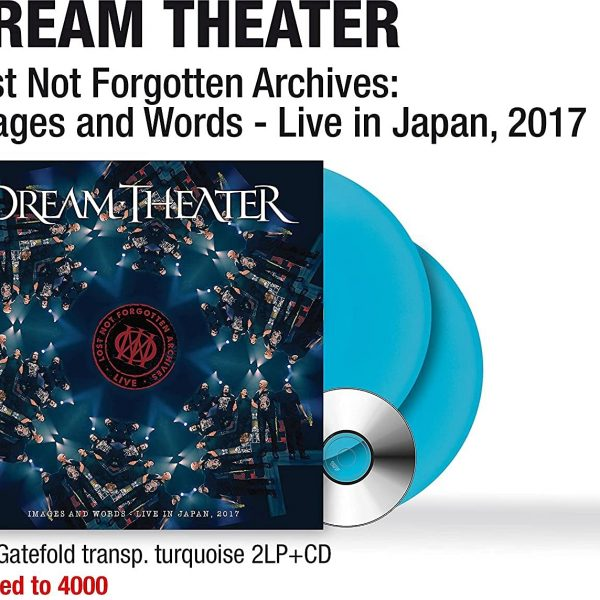 DREAM THEATER – IMAGES AND WORDS – LIVE IN JAPAN 2017 LP2CD