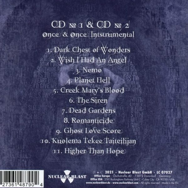 NIGHTWISH – ONCE REMASTERED digipak CD2