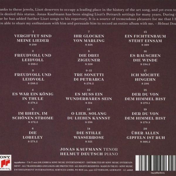 KAUFMANN JONAS/DEUTSCH HELMUT – LISZT FREUDVOLL UND LEIDVOLL CD2
