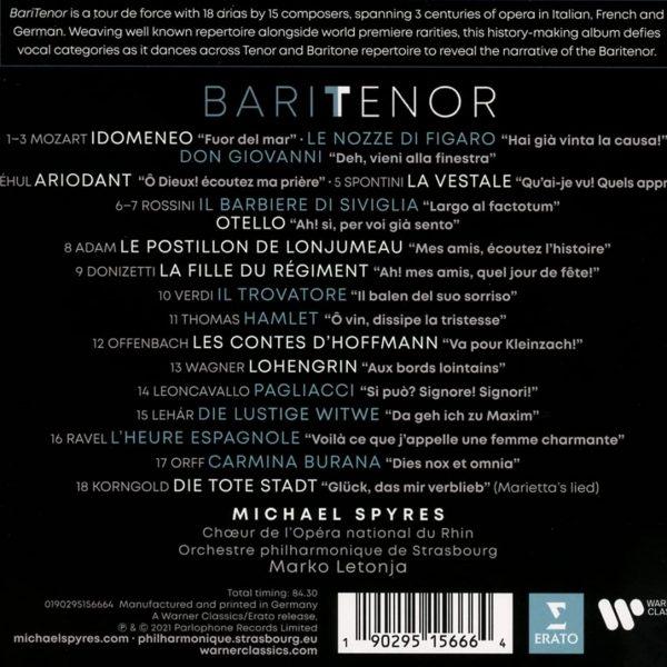 SPYRES MICHAEL – BARITENOR CD