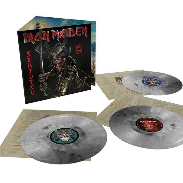 IRON MAIDEN – SENJUTSU silver marble vinyl LP3