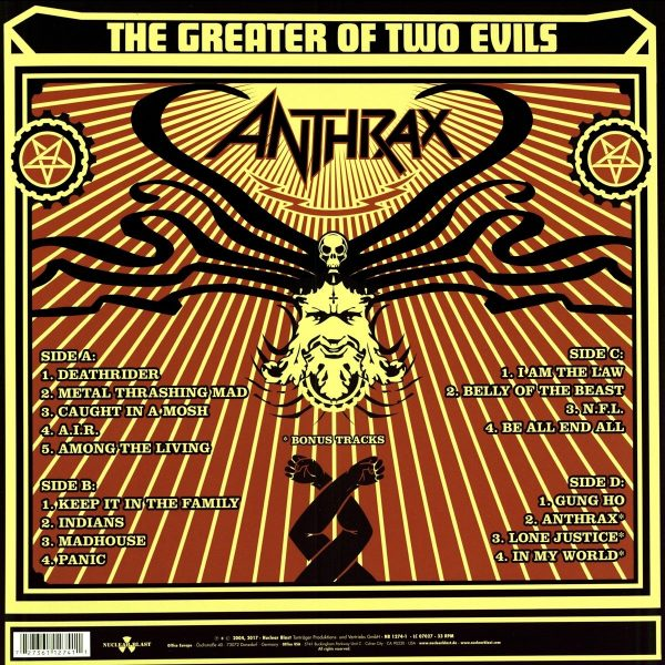 ANTHRAX – GREATER OF TWO EVILS LP2