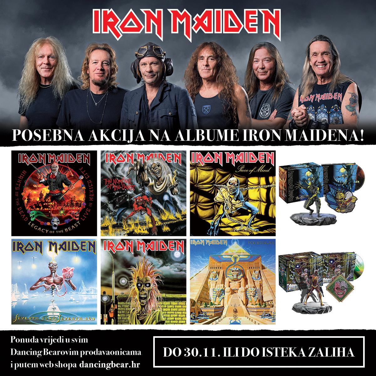 Albumi Iron Maidena na akciji u Dancing Bearu!